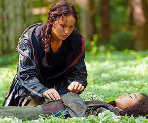 rue, the hunger games, and katniss image