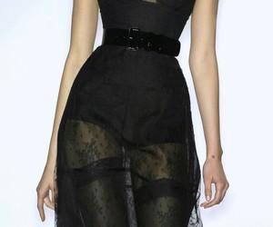 black, dress, and runway image