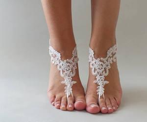 etsy, beach wedding, and bridal sandals image