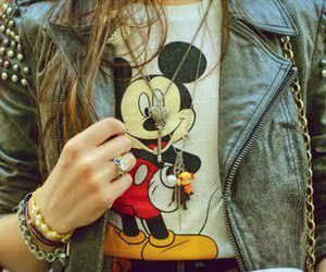 girl, jacket, and mouse image