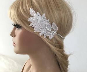 etsy, wedding accessories, and crystal headband image