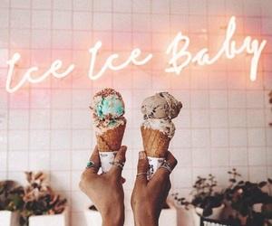 baby, food, and icecream image
