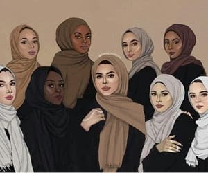 hijab, islam, and makeup image