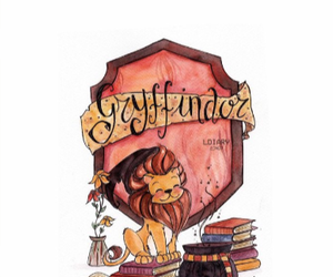 lion, gryffindor, and harry potter image