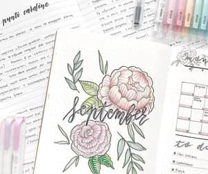 cover, flowers, and notebook image