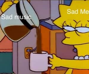 meme, sad, and music image