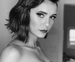 actress, beautiful, and black and white image