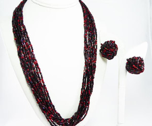 beaded necklace, etsy, and retro image