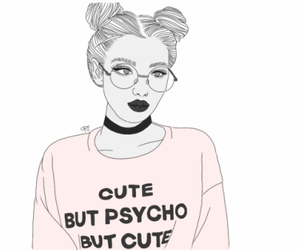 girl, outlines, and tumblr image