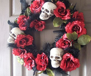 calavera, corona, and skull image