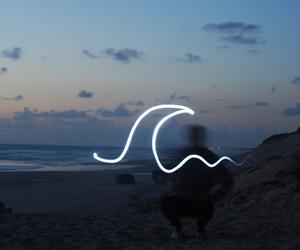 beach, ola, and playa image