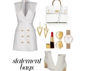 gold, white, and Polyvore image