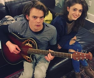 stranger things, natalia dyer, and charlie heaton image