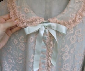 lace, blue, and dress image