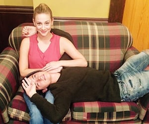 couple, cole sprouse, and riverdale image