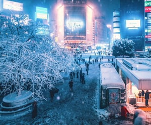 city, photo, and snowy image