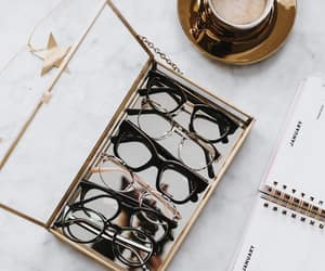 coffee, fashion, and glasses image