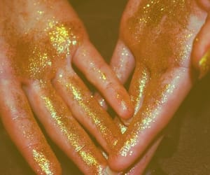 aesthetic, yellow, and glitter image