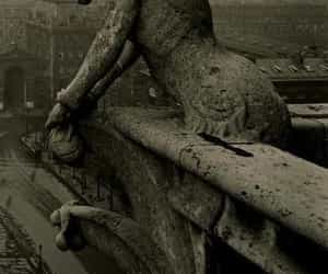 Notre Dame de Paris and gargouille image