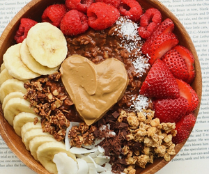 bananas, fruit, and peanut butter image