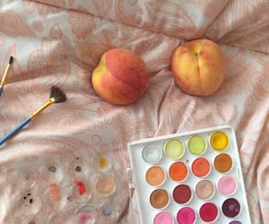 aesthetic, peach, and make image