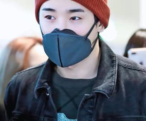 mask, beenie, and monsta x image