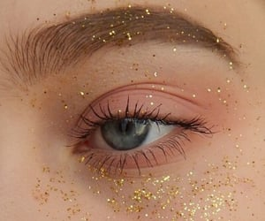 eyes, glitter, and aesthetic image