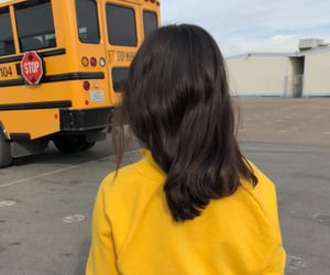 black, outfits, and bus image