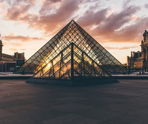 travel, paris, and louvre image