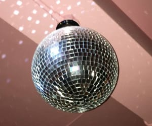 ceiling, disco, and rosegold image