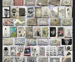 art, artwork, and biro image