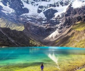 lake, mountains, and cusco image