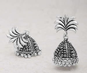 jhumkas, paper quilling earrings, and antique jhumkas image
