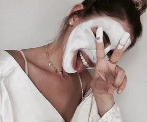 face mask, girl, and beauty image