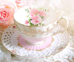 beautiful, flowers, and pearls image