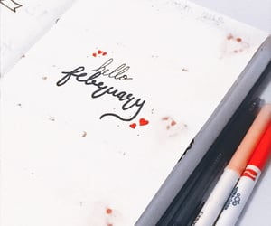calligraphy, journaling, and notebook image