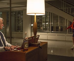 mad men, roger sterling, and peggy olson image