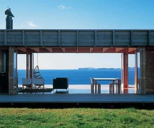 beach house, house, and shipping container image