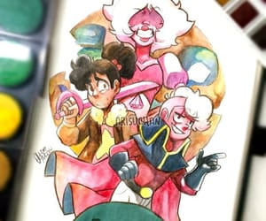 lars, pink diamond, and steven universe image