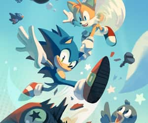 Sonic the hedgehog, miles tails prower, and idw image
