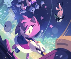 Sonic the hedgehog, amy rose, and idw image