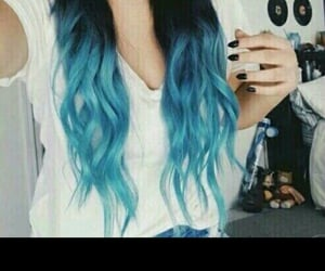 blue, bluehair, and creation image