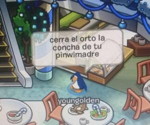 meme, club penguin, and spanish meme image