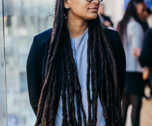 black women, dreads, and long hair image