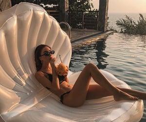 bikini, holidays, and legs image