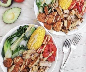 corn, food, and healthy image