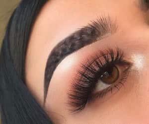beautiful, cosmetics, and eyelashes image