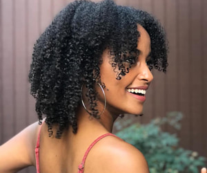 beautiful hair, curly updo, and natural hair care image