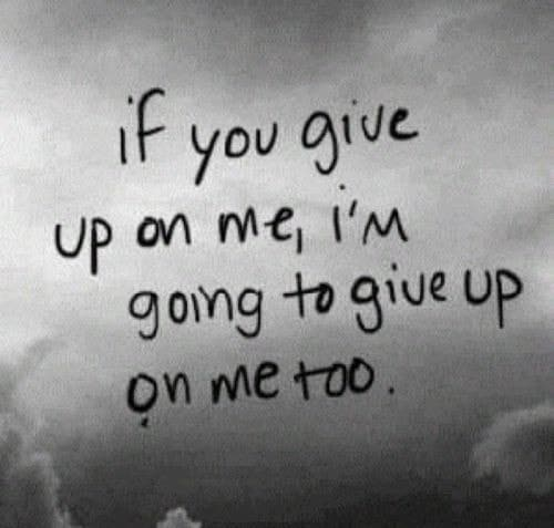 give up, quotes, and sad image