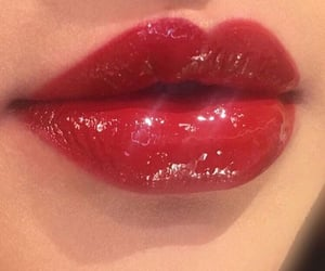aesthetic, red, and lipstick image